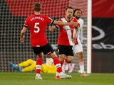 Southampton's Danny Ings celebrates scoring their first goal against Crystal Palace in the Premier League on May 11, 2021