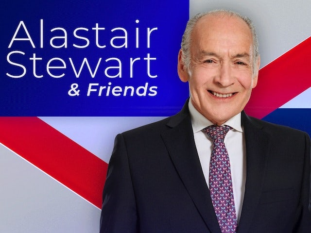 GB News host Alastair Stewart knocked over by a horse