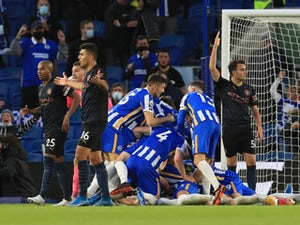 Brighton 3-2 Man City: Seagulls sink champions in front of fans