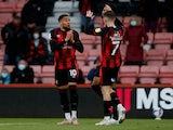 Bournemouth's Arnaut Danjuma celebrates scoring their first goal against Brentford in the Championship playoffs on May 17, 2021