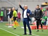 Genoa coach Davide Ballardini on April 18, 2021.