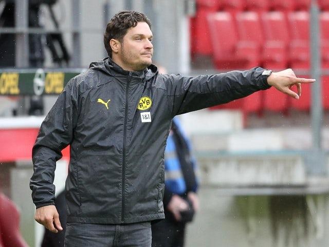 Borussia Dortmund coach Edin Terzic on May 16, 2021.