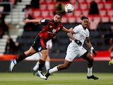 Brentford's Ivan Toney in action with AFC Bournemouth's Cameron Carter-Vickers on May 17, 2021