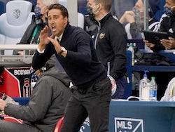 Austin FC head coach Josh Wolff shouts at players during the match against Sporting Kansas City on May 9, 2021
