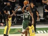 Milwaukee Bucks forward Khris Middleton in action on May 22, 2021