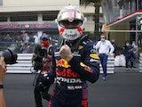 Red Bull's Max Verstappen celebrates winning the Monaco Grand Prix on May 23, 2021