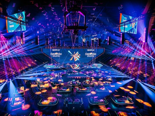 The stage at the Rotterdam Ahoy, host venue for Eurovision 2021
