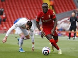Liverpool's Sadio Mane in action against Crystal Palace in the Premier League on May 23, 2021