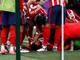 Atletico Madrid's Luis Suarez celebrates scoring their second goal against Real Valladolid in La Liga on May 22, 2021