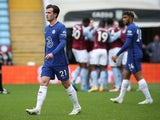Chelsea's Ben Chilwell looks dejected after Aston Villa's Bertrand Traore scores on May 23, 2021