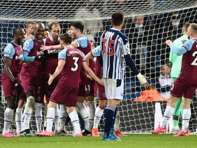 Result: West Brom 1-3 West Ham: Hammers on brink of Europa League spot