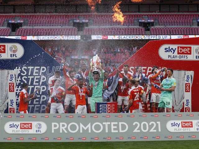Result: Blackpool 2-1 Lincoln City: Tangerines secure Championship return