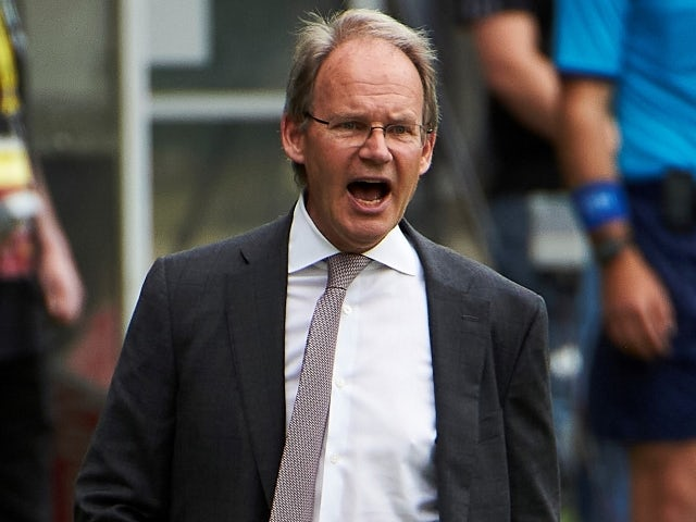 Seattle Sounders head coach Brian Schmetzer reacts on May 9, 2021