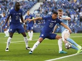Chelsea's Thiago Silva in action with Manchester City's Kevin De Bruyne in the Champions League final on May 29, 2021