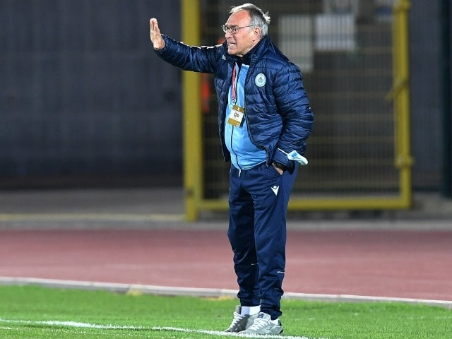 San Marino coach Franco Varrella on March 31, 2021