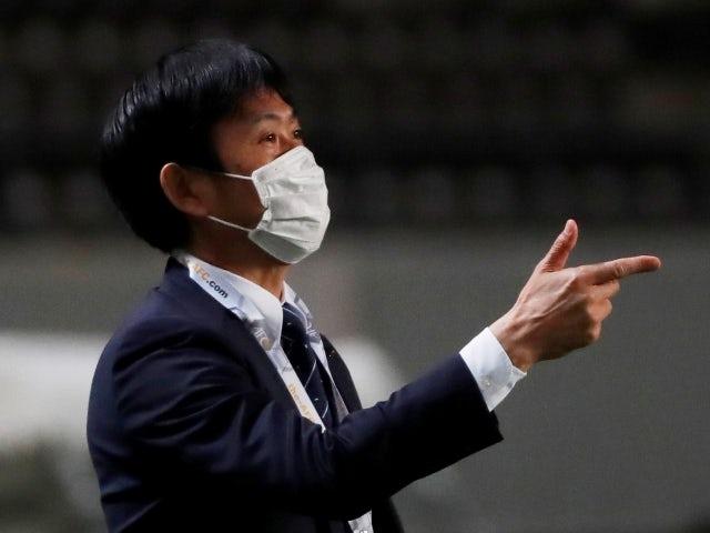 Japan coach Hajime Moriyasu on March 30