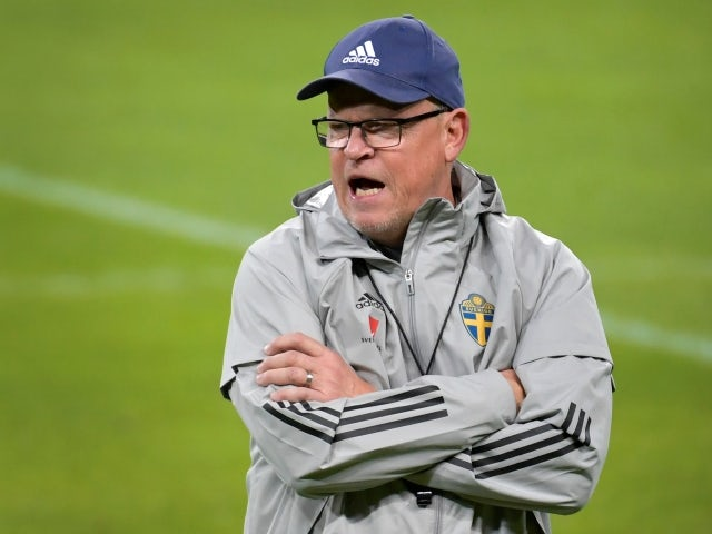 Sweden coach Janne Andersson during training in October, 2020