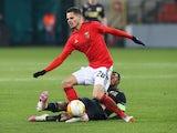 Julian Weigl in action for Benfica in December 2020