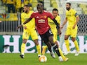 Manchester United's Paul Pogba in action against Villarreal in the Europa League final on May 26, 2021