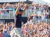 Phil Mickelson celebrates after winning the US PGA Championship on May 24, 2021