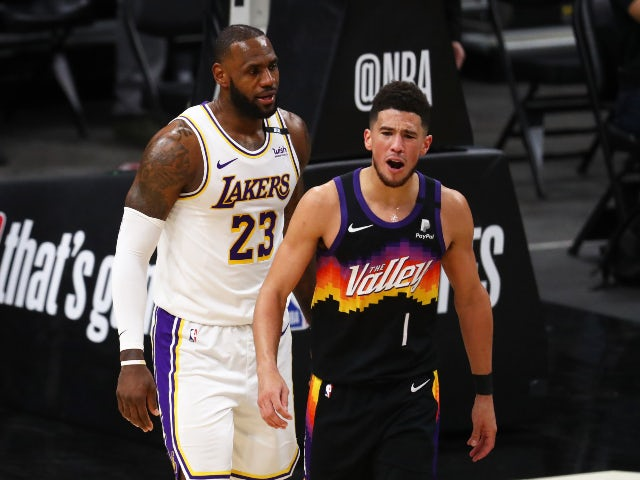 NBA roundup: Devin Booker inspires Suns to win over Lakers