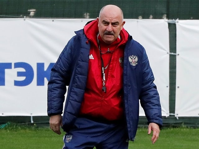 Russia coach Stanislav Cherchesov during training for EURO 2020 on May 20, 2021