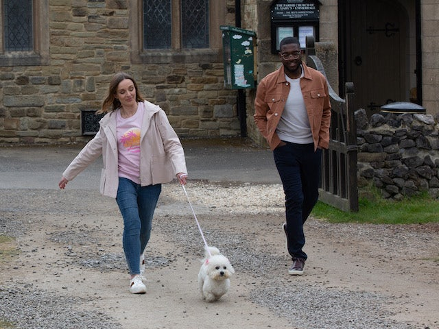 Andrea and Ethan on the first episode of Emmerdale on June 10, 2021