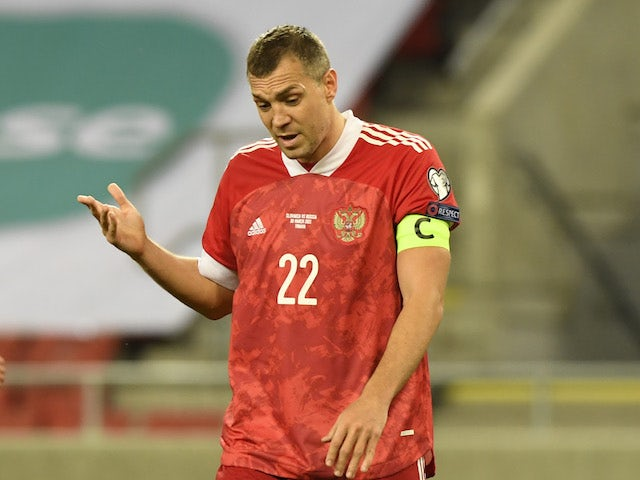 Russia's Artem Dzyuba pictured in March 2021