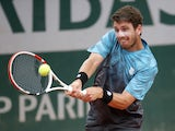 Cameron Norrie in action at the French Open on June 3, 2021