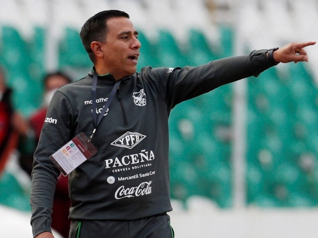 Bolivia manager Cesar Farias pictured on October 13, 2020