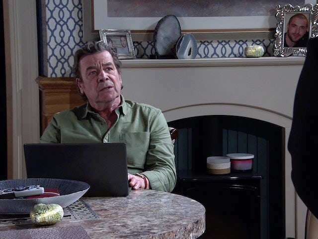 Johnny on the first episode of Coronation Street on June 7, 2021