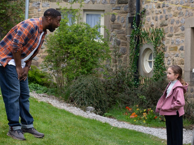 Charles and Millie on the first episode of Emmerdale on June 10, 2021