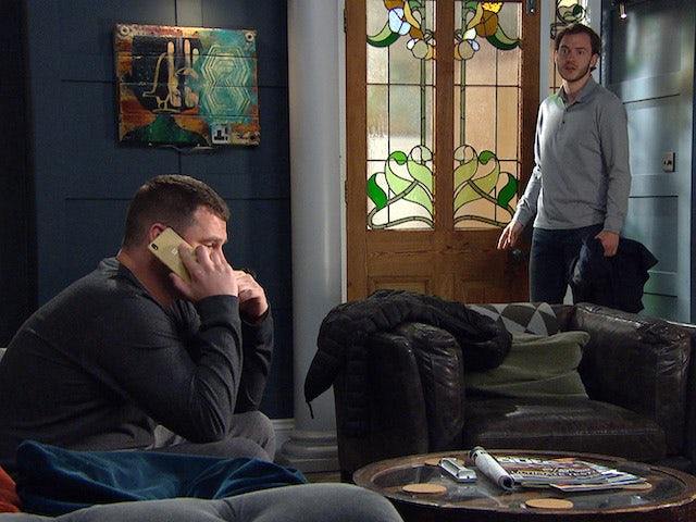 Aaron and Ben on the first episode of Emmerdale on June 10, 2021