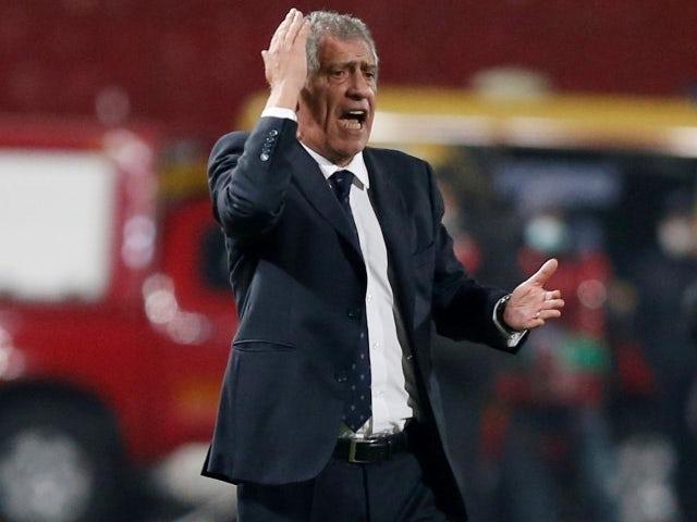 O técnico de Portugal, Fernando Santos, fotografado em 27 de março de 2021