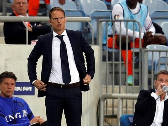 Netherlands' manager Frank de Boer on June 2, 2021