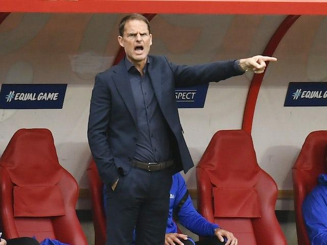 Netherlands manager Frank de Boer pictured on June 6, 2021