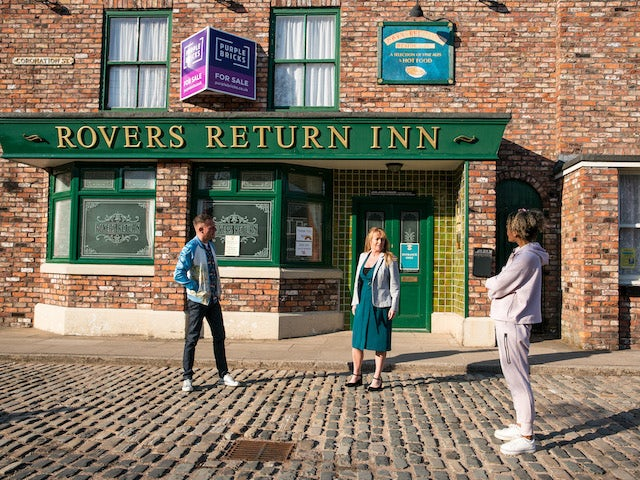 Sean, Jenny and Emma on the first episode of Coronation Street on June 9, 2021
