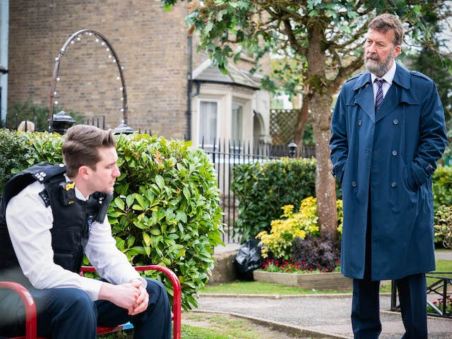 Callum and DCI Arthurs on EastEnders on June 8, 2021