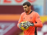 Mathew Ryan in action for Arsenal in February 2021