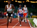 Great Britain's Mo Farah in action during the men's 10,000m on June 5, 2021