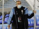 Uruguay manager Oscar Tabarez pictured on October 8, 2020