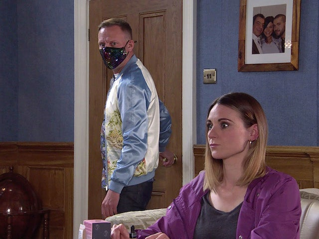 Sean and Carol on the second episode of Coronation Street on June 9, 2021