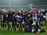 Scotland players celebrate qualifying for Euro 2020 in November 2019
