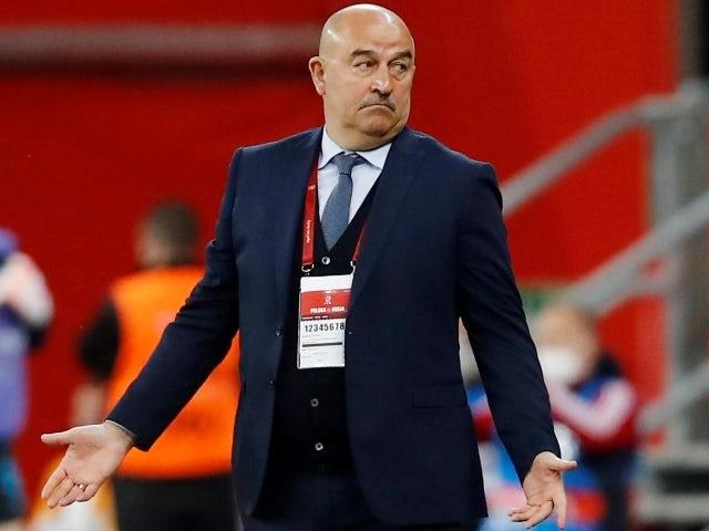 Russia coach Stanislav Cherchesov pictured on June 1, 2021