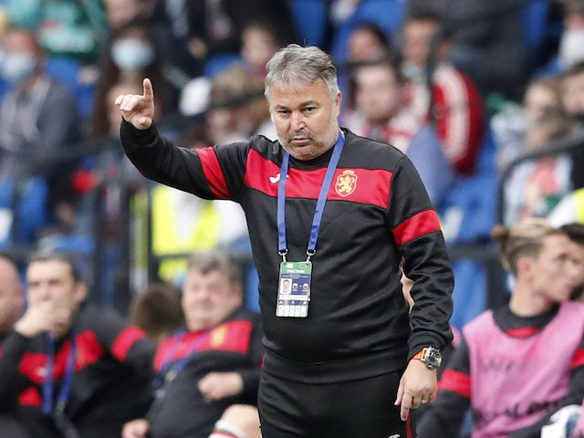 Bulgaria coach Yasen Petrov pictured on June 5, 2021