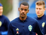 Alexander Isak pictured in Sweden training in May 2021