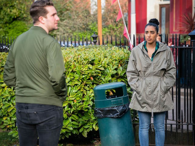 Ash on the first episode of EastEnders on June 16, 2021