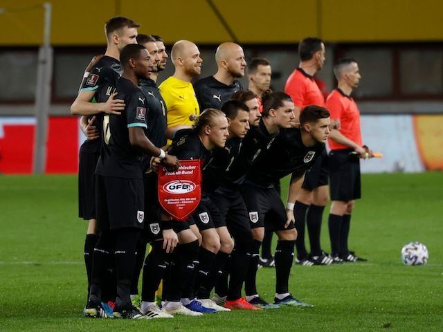 Austria players pictured in March 2021