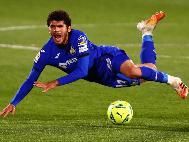 Carles Alena in action for Getafe in March 2021