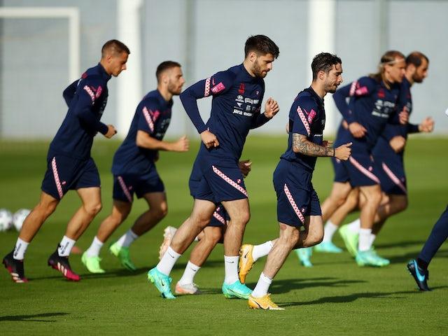Croatia players in training ahead of Euro 2020